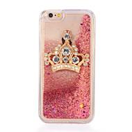 Για Στρας Ρέον υγρό Φτιάξτο Μόνος Σου tok Πίσω Κάλυμμα tok Λάμψη γκλίτερ Μαλακή TPU για AppleiPhone 7 Plus iPhone 7 iPhone 6s Plus iPhone