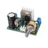 Lm317 strømforsyning pladeplade med beskyttelse 1.25v-37v 1.5a kontinuerlig justerbar DC spændingsregulator