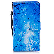 Voor Hoesje cover Kaarthouder Portemonnee met standaard Flip Patroon Magnetisch Volledige behuizing hoesje Boom Hard PU-leer voor Samsung