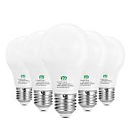 5W E26/E27 LED-globepærer 10 SMD 2835 400-500 lm Varm hvid Hvid Dekorativ Vekselstrøm100-240 V 5 stk.