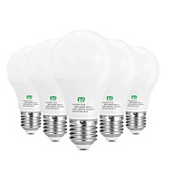 5W E26/E27 LED-globlampor 10 SMD 2835 400-500 LM Varmvit Vit Dekorativ AC100-240 V 5 st