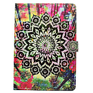For iPhone iPad (2017) iPad Pro 9.7'' PU Leather Material Black Flowers Pattern Painted Flat Protective Cover iPad Air 2 Air iPad 2 / 3 / 4
