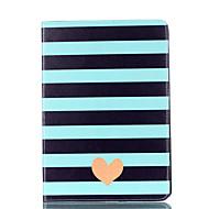 Voor appel ipad mini 4 3 2 1 case cover gestreepte liefde patroon kaart stent pu materiaal vlakke bescherming shell