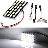 Lorcoo branco levou carro luzes lâmpada t10 5050 24-smd 194 168 (4pcs)