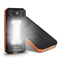Uuden 10000mah ssolar laturi camping lamppu kompassi Universal ssolar mobiili virtalähde
