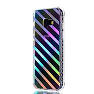 Samsung Galaxy a3 (2017) a5 (2017) suojus iskunkestävä pinnoite läpikuultava kuvio takakansi linjat aallot pehmeä tpu