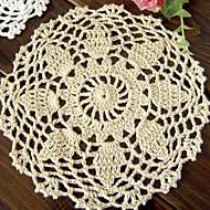 Pyöreä Floral Placemats Coasters , 100% Cotton materiaaliTaulukko Dceoration Häät Illallinen sisustus Favor Sisustus Hotel ruokapöytä