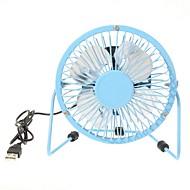 360 graden roterende usb kleine ventilator mini fan 4 inch aluminium studenten ultra-stille usb fan