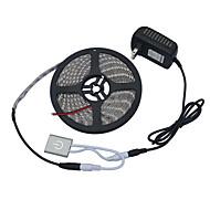 jiawen 5メートル5050  -  smd暖かい白またはクールな白ledライトストリップw /メタルタッチ調光スイッチ