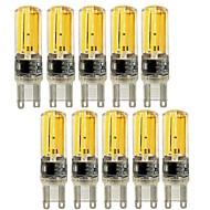 5W E14 G9 G4 LED-lamper med G-sokkel T 4 COB 450 lm Varm hvid Kold hvid Justérbar lysstyrke Dekorativ Vekselstrøm 220-240 V 10 stk.
