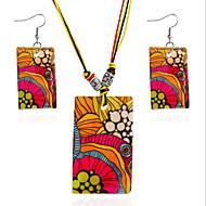 Svadbeni nakit Setovi Jewelry Simple Style Crvena 1 Ogrlica 1 par naušnica Za Dnevno Kauzalni 1 Set Vjenčanje Pokloni