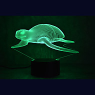 Les tortues marines de Noël touchent la luminosité 3D led Night Light 7colorful décoration atmosphère lampe nouveauté éclairage lumière de