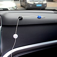 Ziqiao 10 stk multifunksjonell selvklebende bil lader linje lås klemme hodetelefon / usb kabel bil klips interiør tilbehør (2,8 * 1,5cm)
