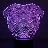 Weihnachten Bulldog Schildkröten berühren Dimmen 3d führte Nachtlicht 7colorful Dekoration Atmosphäre Lampe Neuheit Beleuchtung