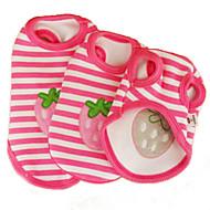 猫用品 / 犬用品 Tシャツ ピンク 犬用ウェア 夏 果物 / 縞柄 結婚式 / コスプレ