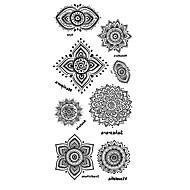 Tatuagens Adesivas Séries Totem Estampado Lombar Á Prova d'águaFeminino Masculino Adolescente Tatuagem Adesiva Tatuagens temporárias