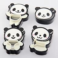 4 darab sütőformát Szöveg Cookie Candy Ice Műanyagok 3D Jó minőség Sütés eszköz