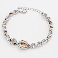 Γυναικεία Βραχιόλια με Αλυσίδα & Κούμπωμα Κοσμήματα Φύση Μοντέρνα Πεπαλαιωμένο Χειροποίητο Κρύσταλλο Κράμα Oval Shape Κοσμήματα ΓιαΓάμου