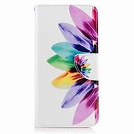 Til huawei p10 plus p10 lite case cover kortholder lommebok med stativ flip mønster sag fuld krop tilfælde blomst hard pu læder