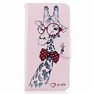 Za huawei p10 plus p10 lite kućište za pokrivanje držač novčanika sa stalakom flip uzorak kućište punog kućišta žirafa teško pu koža