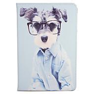 Apple iPad 2 mini1 3/4 burkolata állvánnyal flip-minta teljes test esetében kutya kemény PU bőr