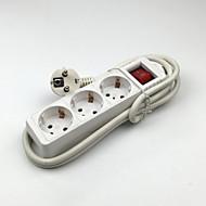 Lj-083 power strip 4 uitgangen schakelen 16a met 150cm kabel eu pulg