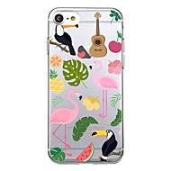 Para el iphone 7 más el caso ultrafino de la cubierta posterior del patrón de la cubierta del caso 7 flamencos suave tpu para el iphone 6s