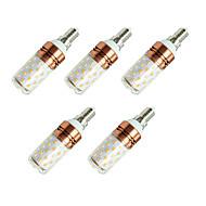 8W LED-kolbepærer T 60 SMD 2835 800 lm Varm hvid Hvid V 5 stk.