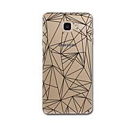 Samsung Galaxy a3 (2017) a7 (2017) suojus läpinäkyvä kuvio takakansi tapauksessa riviä / aallot geometrinen kuvio pehmeä pc Galaxy a5