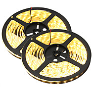 80W Esnek LED Şerit Işıklar 7650-7750 lm DC12 V 10 m 300 led Sıcak Beyaz Beyaz
