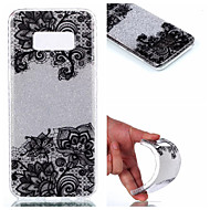 Voor Hoesje cover IMD Achterkantje hoesje Lace Printing Glitterglans Zacht TPU voor Samsung S8 S8 Plus S7 edge S7