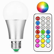 12W LED Έξυπνες Λάμπες A60(A19) 15 Ενσωματωμένο LED 800-900 lm Θερμό Λευκό RGB Με ροοστάτη Τηλεχειριζόμενο Διακοσμητικό V 1 τμχ