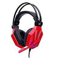 soyto SY850MV-R Stirnband Mit Kabel Kopfhörer Dynamisch Spielen Kopfhörer Stereo Mit Mikrofon Mit Lautstärkeregelung Headset