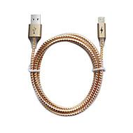 Lightning USB 2.0 Entrançado Normal Cabo Para iPhone iPad cm Alumínio