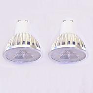 3W Spot LED MR16 3 LED Haute Puissance 260-300 lm Blanc Chaud Blanc Intensité Réglable AC 100-240 V 2 pièces