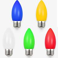 1.5W LED Λάμπες Κεριά 8 SMD 2835 70-100 lm Άσπρο Κόκκινο Μπλε Κίτρινο Πράσινο Διακοσμητικό AC220 V 5 τμχ