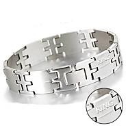 Fashion men's Bracelet Stainless steel titanium Wang word all-match male jewelry jewelry bracelet