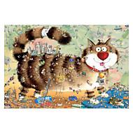Jigsaw Puzzles Jigsaw Puzzle Building Blocks DIY Toys Cat Wooden
