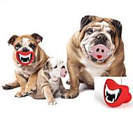 강아지 장난감 반려동물 장난감 씹는 장난감 입술 고무 레드 핑크
