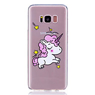 Hoesje voor Samsung Galaxy S8 Plus S8 transparante patroon achterhoes Unicorn Animal Soft TPU S7 Rand s7