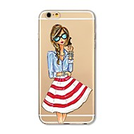 Caso para el iphone 7 más 7 tapa transparente de la cubierta de la caja de la contraportada del caso suave suave para el iphone de la