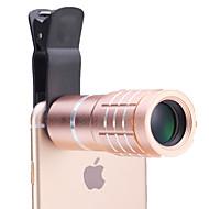 universele 10 × telescoop lens voor mobiele telefoons iphone / samsung zilver / goud / roze / zwart
