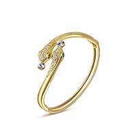 Dame Charm-armbånd Armbånd Unikt design Mode Krystal Legering Smykker Slange Gylden Smykker For Bryllup Fest Daglig 1 Stk.