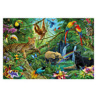 Puzzle Puzzle Cegiełki DIY Zabawki Słoń Ptaszek Kot Kwiat