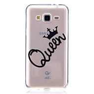 Hoesje voor Samsung Galaxy J7 v j5 hoofdtas hoesje koningin patroon hoge penetratie tpu hoesje van stof kras telefoon voor Samsung Galaxy