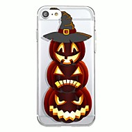 Til iphone 7plus cover dækning gennemsigtigt mønster bagside cover geometrisk mønster tegneserie halloween blødt tpu til iphone 7 6splus