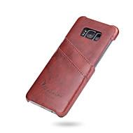 Taske til samsung galaxy s8 s8 plus cover kortholder bagside cover solid farve hard pu læder til Samsung Galaxy S7 edge s7
