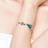 Dames Cuff armbanden Sieraden Vriendschap Modieus Movie Jewelry Hypoallergeen Verguld Roestvrijstaal Legering Driehoekige vorm Sieraden