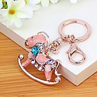 Worek / telefon / keychain wdzięczny koń rhinestone styl zabawka kreskówki korea styl metalu