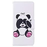 για το κάλυμμα της θήκης χαρτοφυλάκιο του πορτοφολιού με το περίπτερο flip μαγνητικό σχέδιο ολόκληρο το σώμα panda σκληρό pu δέρμα για το